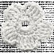 Frozen Crochet Flower - White