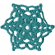 Frozen Crochet Snowflake 001 - Aqua