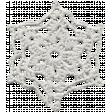 Frozen Crochet Snowflake 001 - White