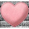 Be Mine - Pink Felt Heart