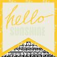 Sunshine & Lemons - Hello Sunshine Tag
