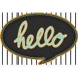 Hello! - Black Talk Bubble