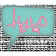 Hello! - Blue Talk Bubble