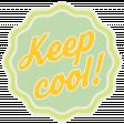 Sunshine & Lemons No2 - Keep Cool Sticker