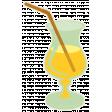 Sunshine & Lemons No2 - Yellow Cocktail Sticker