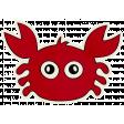 Beachy! - Crab Sticker