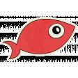 Beachy - Salmon Sticker
