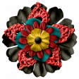 Arrgh! - Black & Red Stacked Flower