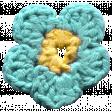 Arrgh! - Blue Crochet Flower