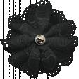 Ride A Bike - Fabric Flower - Black