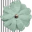 Ride A Bike - Fabric Flower - Mint