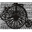 Ride A Bike Word Bits -  Bicycle Stamp