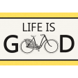 Ride A Bike Word Bits -Life Is Good