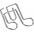 Metal Paper Clips -Musical Notes