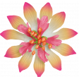 Sand and Beach - Fabric Flower Pink