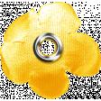 Sand And Beach - Fabric Flower Rivet Yellow