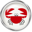 Sand And Beach - Crab Button