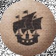 Sand And Beach - Ship Fabric Button