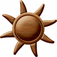 Sand And Beach - Wood Sun Ornament