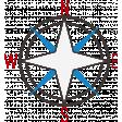 Sand & Beach - Compass - Nautical Stamp