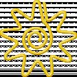 Heat Wave Elements - Paperclip Sun