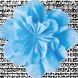 It's Elementary, My Dear - Blue Fabric Flower 02
