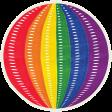 It's Elementary, My Dear - Rainbow Ribbon Ball Sticker