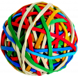 A Bouquet of Freshly Sharpened Pencils - Rubberband Ball
