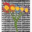 A Bouquet of Freshly Sharpened Pencils - Doodle Flower Bouquet