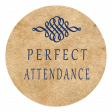 Perfect Attendance Word Art