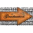 Graduation Word Art Arrow