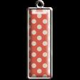 Orange Polka Dot Rectangle Pendant