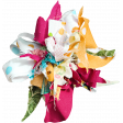 Tiny, But Mighty Multi Colored Fabric Flower 02