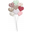 Be Mine - Shadowed Puffy Heart Balloon Bouquet