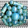 Christmas Memories Bead Cluster - Blue