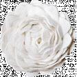 Christmas Memories Ric Rac Flower - White