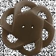 Be Mine Mini Flower Button - Brown