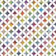 Quilted With Love - Modern Rainbow Cathedral Window Paper 1