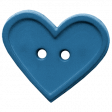 Quilted With Love - Blue Heart Button