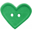 Quilted With Love - Green Heart Button