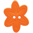 Quilted With Love - Orange Flower Button