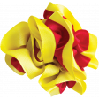 Red and Yellow Ribbon Flower