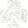 The Lucky One - Green Celtic Clover Stitching