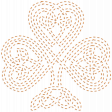 The Lucky One - Orange Celtic Clover Stitching