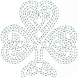 The Lucky One - Teal Celtic Clover Stitching