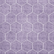 Quilted With Love - Modern Purple Quilted Hexagon Fabric Paper