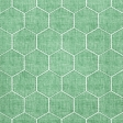 Quilted With Love - Modern Green Quilted Hexagon Fabric Paper