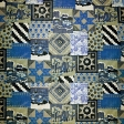Quilted With Love - Modern Blue Patchwork Quilt Paper