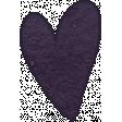 Earth Day - Purple Cardstock Heart