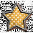 Yellow Polka Dot Star Brad
